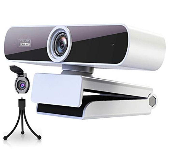 Redeem on Screen Voucher HD 1080P Webcam with Microphone for PC,