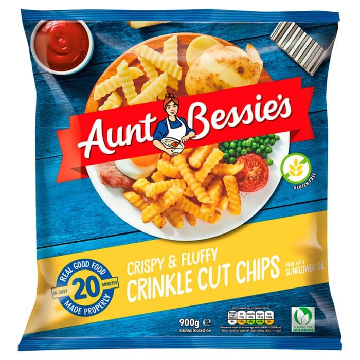 Aunt Bessie's Crispy & Fluffy Crinkle Cut Chips 900g