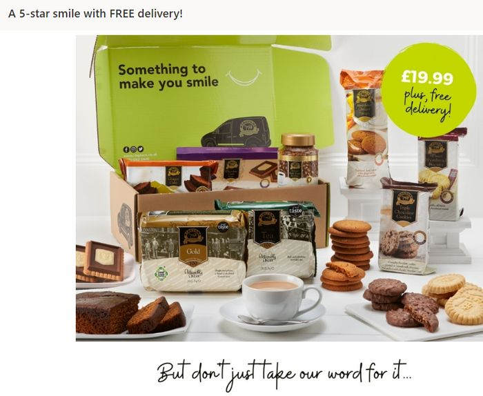 The Perfect Tea & Biscuit Bundle & Delivered For FREE!