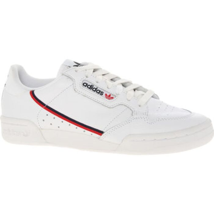 CHEAP! ADIDAS White Side Striped Continental Trainers