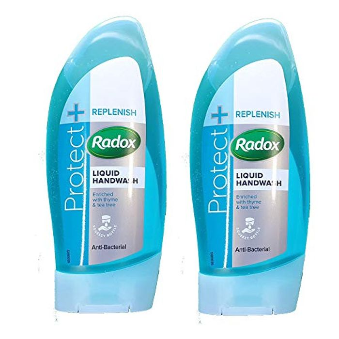 Best Price! Radox Antibacterial Liquid Handwash Protect + Replenish 250ml*2
