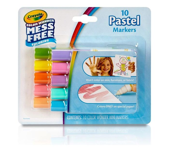 Crayola Colour Wonder Mess Free Colouring 10 Pastel Makers
