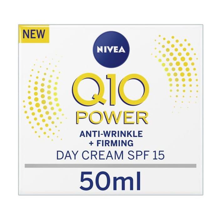 Nivea Q10 Anti-Wrinkle SPF15 Day Cream - 50ml Click & Collect
