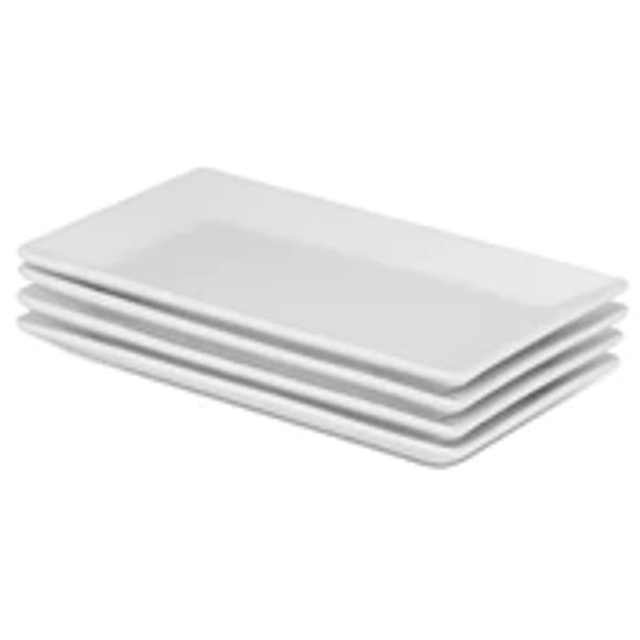 Set of 4 Porcelain Serving Platters