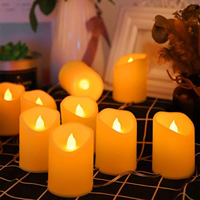 LED Candle String Lights with 8 Light Modes