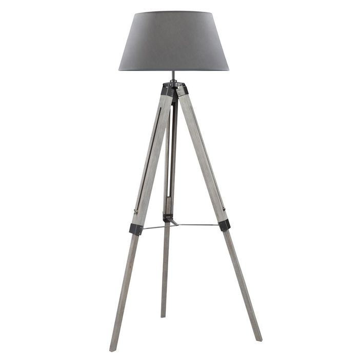 Casa Moda Wooden Tripod Floor Standing Lamp
