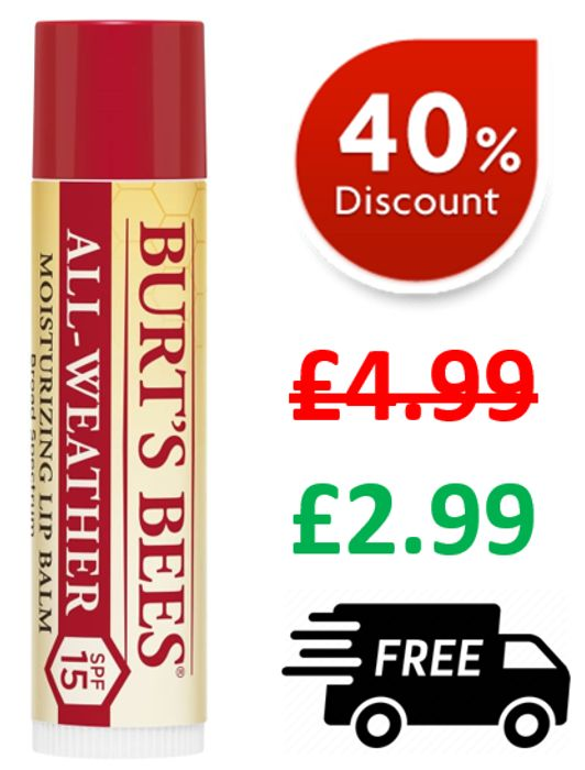 Burt's Bees ALL-WEATHER Moisturising Lip Balm