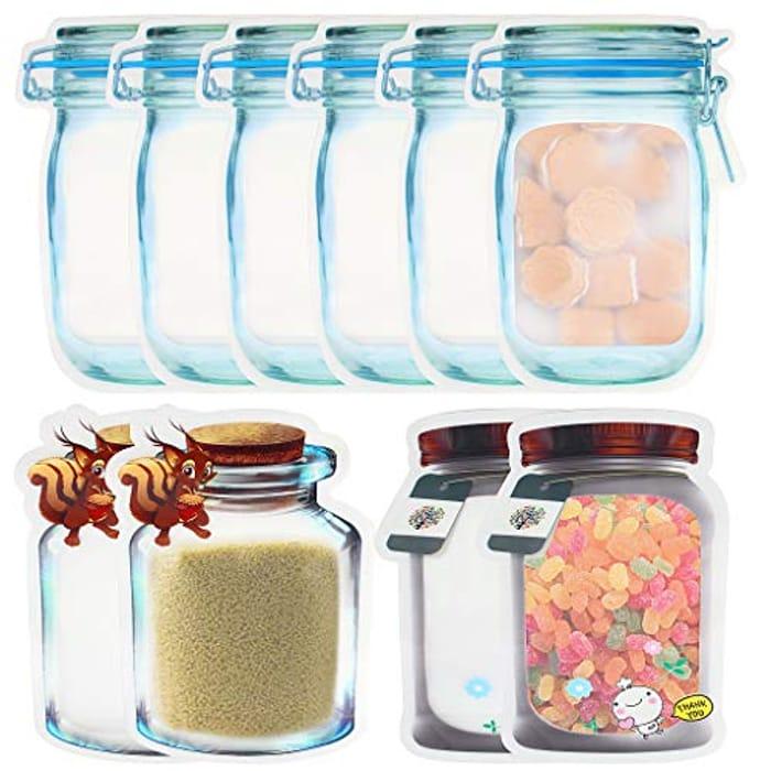 10 Pack Mason Jar Reusable Food Storage Bags