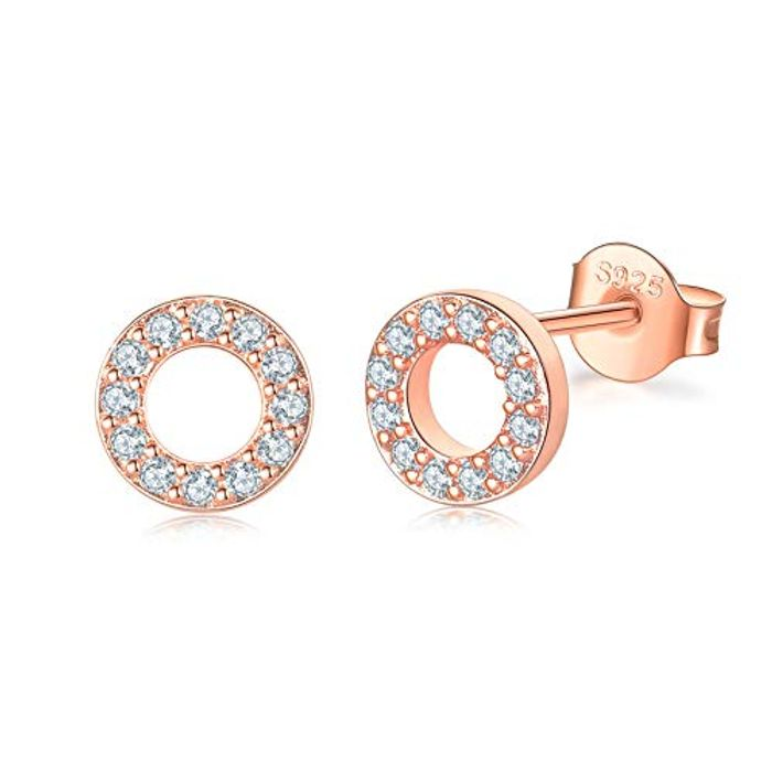 925 Sterling Silver Stud Earrings, Available in Silver/ RG or YG Plated