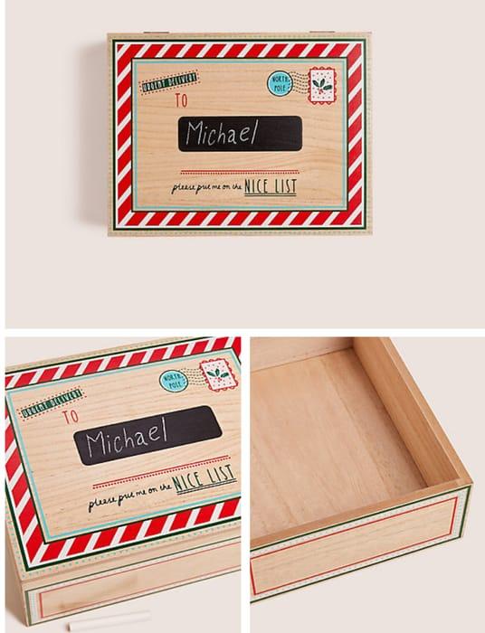 Medium Hand Finished Wooden Christmas Eve Box