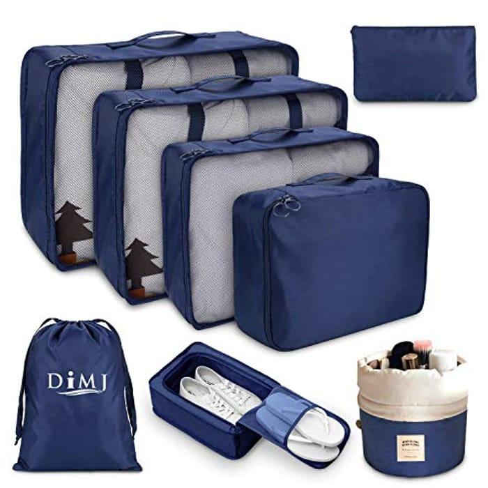 DIMJ 8 PCS Packing Cubes for Suitcase
