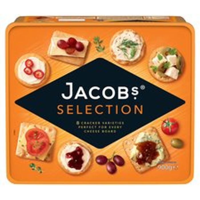 Jacobs Biscuits For Cheese Tub 900G - *Re-Usable Airtight Tub