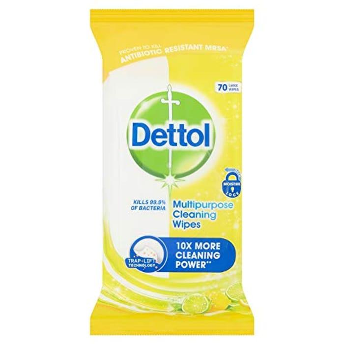Dettol Multi-Purpose Citrus 70 Large Wipes