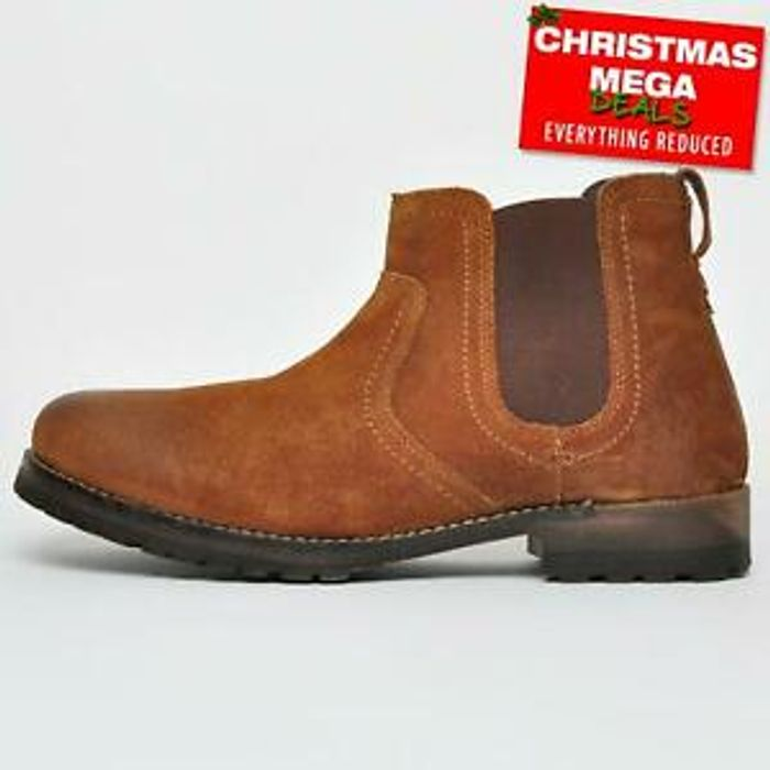 Red Tape Clifton REAL SUEDE LEATHER Mens Dealer Chelsea Boots