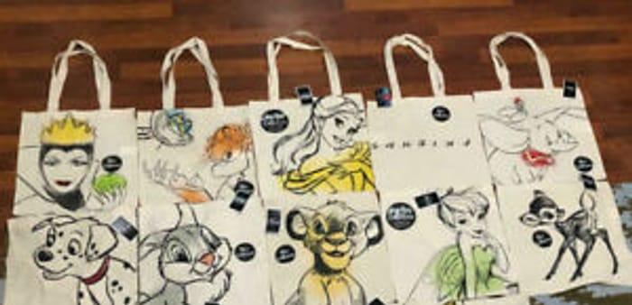 Disney Designs Canvas Tote Bags