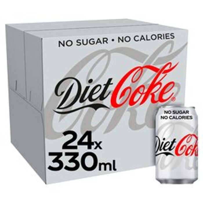 Diet Coke 24 X 330ml/Coca Cola Zero 24 X 33ml Only £6.50 Each