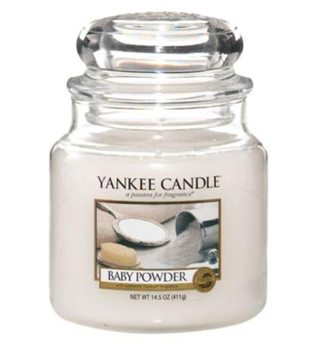 Yankee Candle Classic Medium Jar Candle Baby Powder 411g