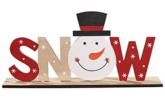 SNOW or XMAS Wooden Ornament
