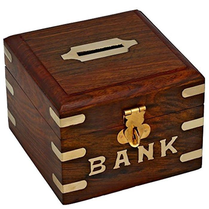 Handmade Wooden Piggy Bank