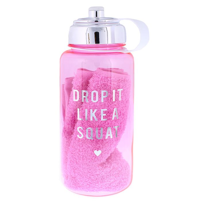Heart & Soul Gym Bottle & Towel Set