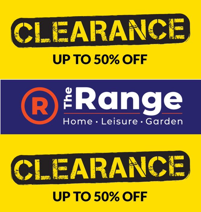 THE RANGE - Clearance Sale - up to 50% OFF