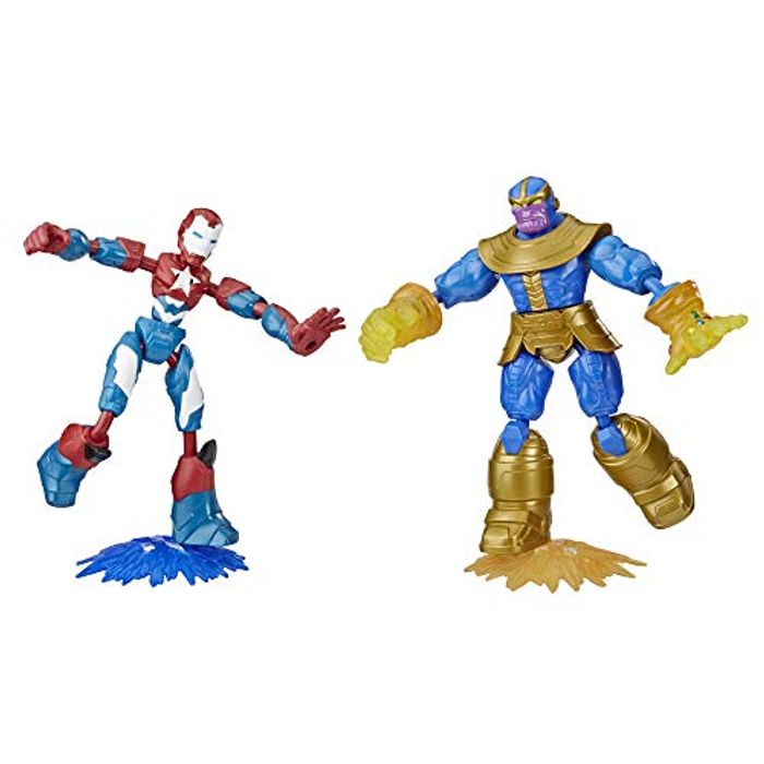 Marvel Avengers Bend and Flex Iron Patriot vs. Thanos Toy Dualpack