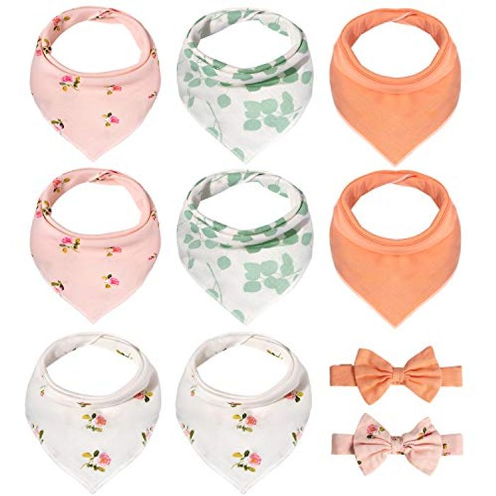 Baby Bandana Bibs with Headbands - Only £4.94!