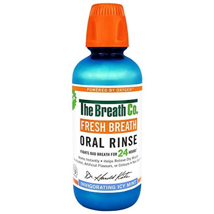 The Breath Co Fresh Breath Oral Rinse - Icy Mint, 500 Ml