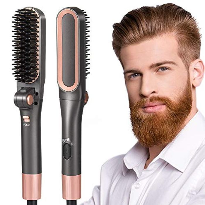 Beard Straightener Comb for Men with £9 off Coupon