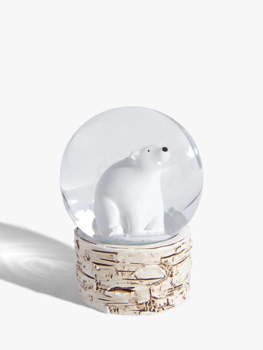 John Lewis & Partners Polar Bear Mini Snow Globe