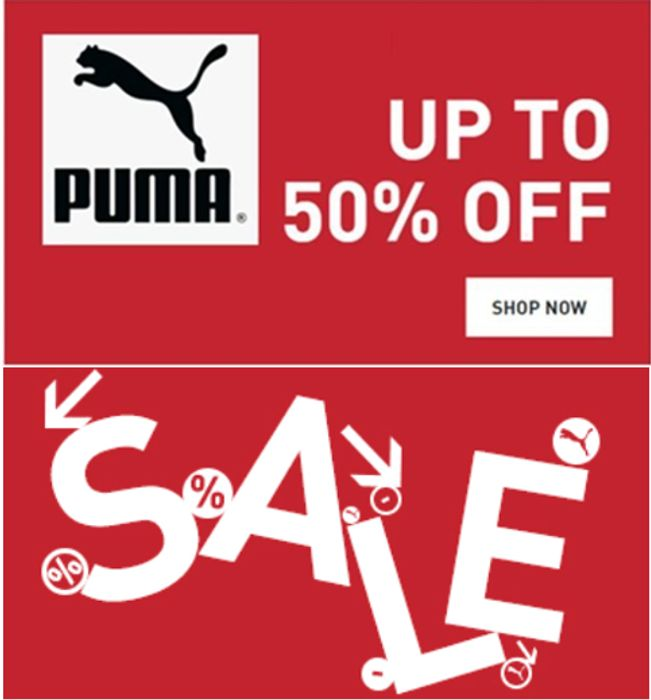PUMA Sale - Up to 50% Off + Extra 15% off With Email Sign Up