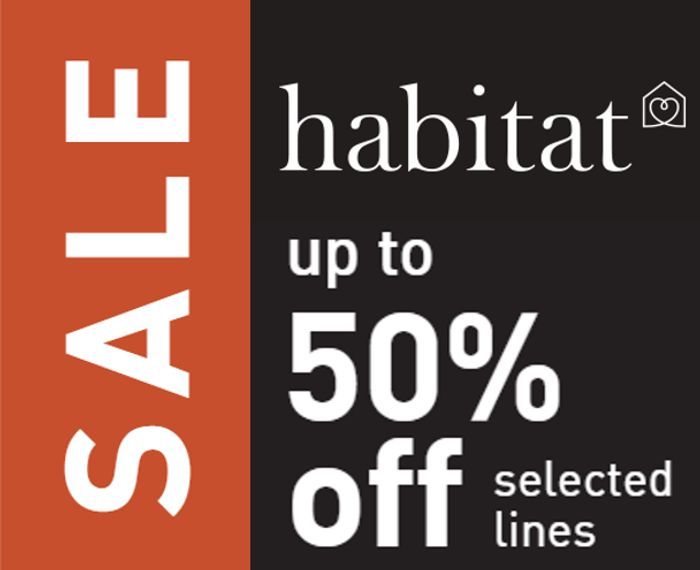 HABITAT JANUARY SALE - up to 50% off Sofas, Furniture, Lighting, Homewares