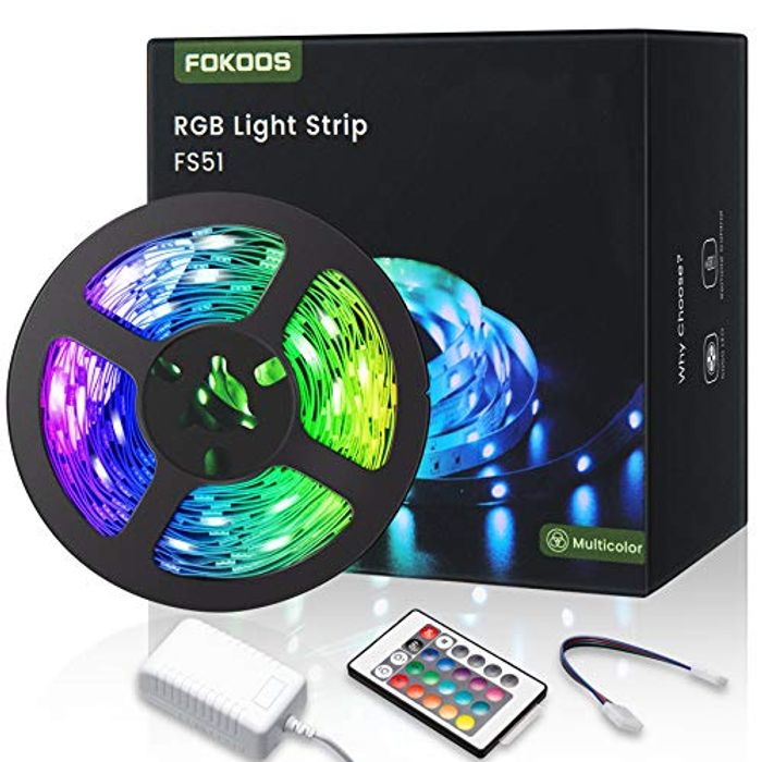 5M (16.4Ft) RGB LED Strip Lights