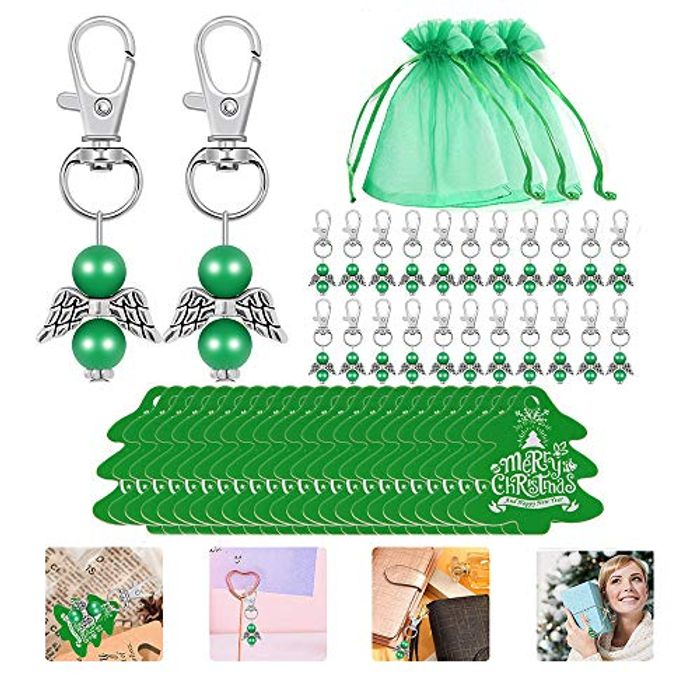 24pcs Christmas Gift Set - Organza Bags, Keychains and Gift Tags