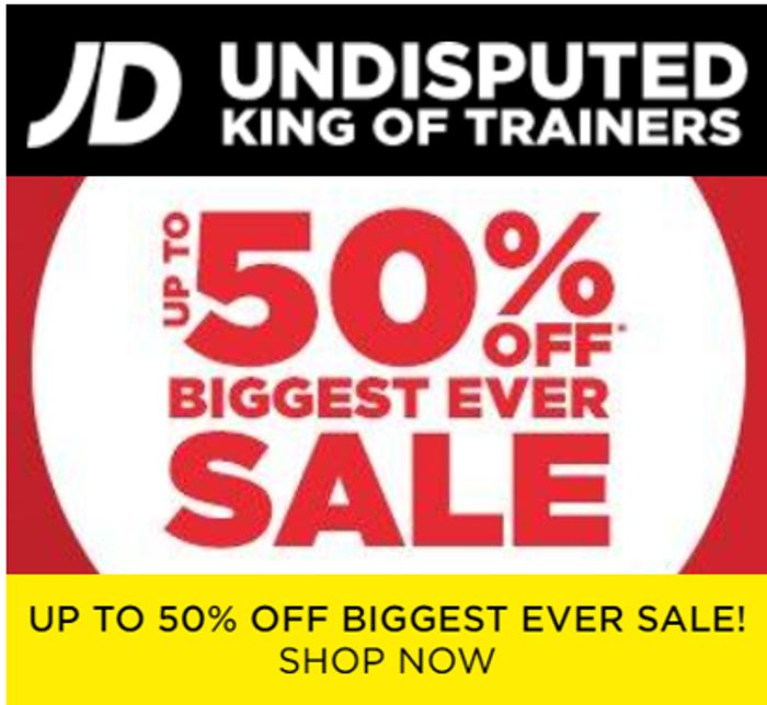 JD Sports Sale - Up to 50% off Nike, adidas, Puma, Under Armour & More