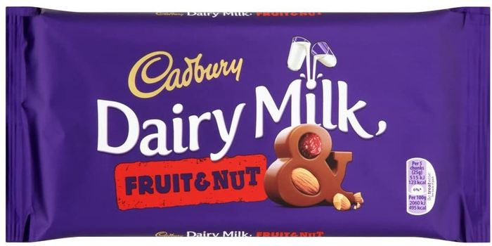 Cadbury Dairy Milk Fruit & Nut Chocolate Bar, 200g