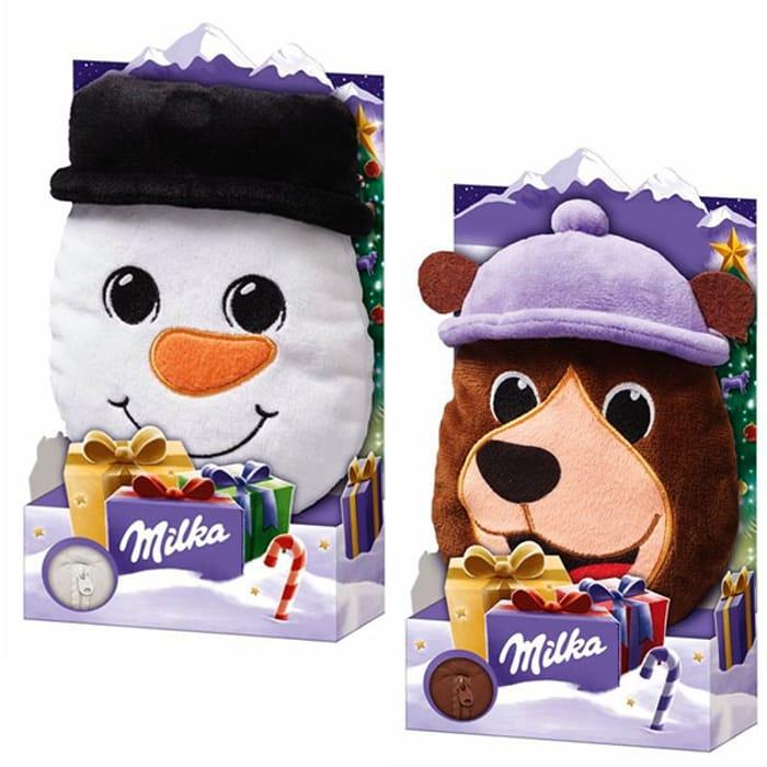2 X Milka Magic Mix Christmas Plush Toy & Chocolate Kids Stocking Fillers