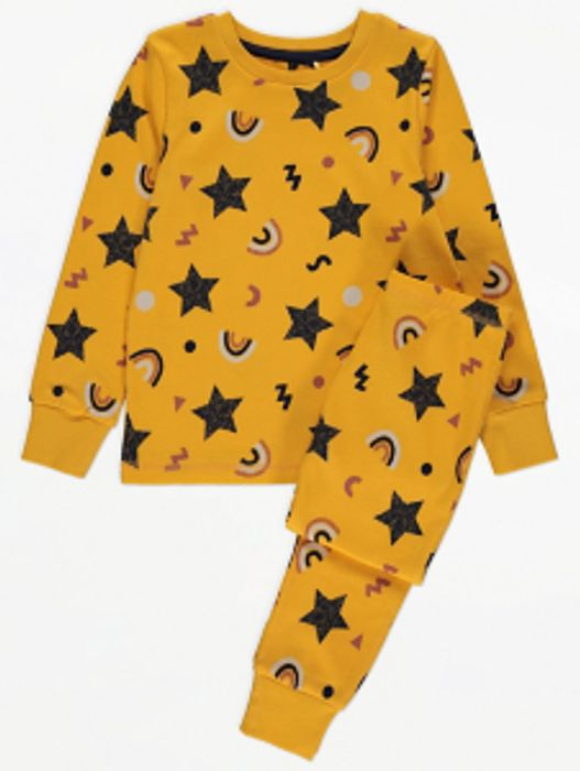 Yellow Star Print Pyjamas