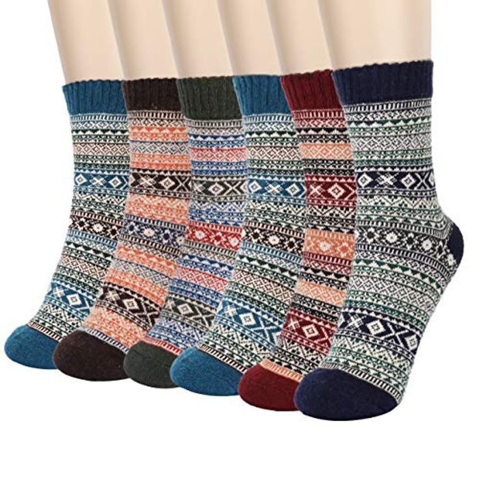 6 Pairs Thermal Socks - Save £7.54