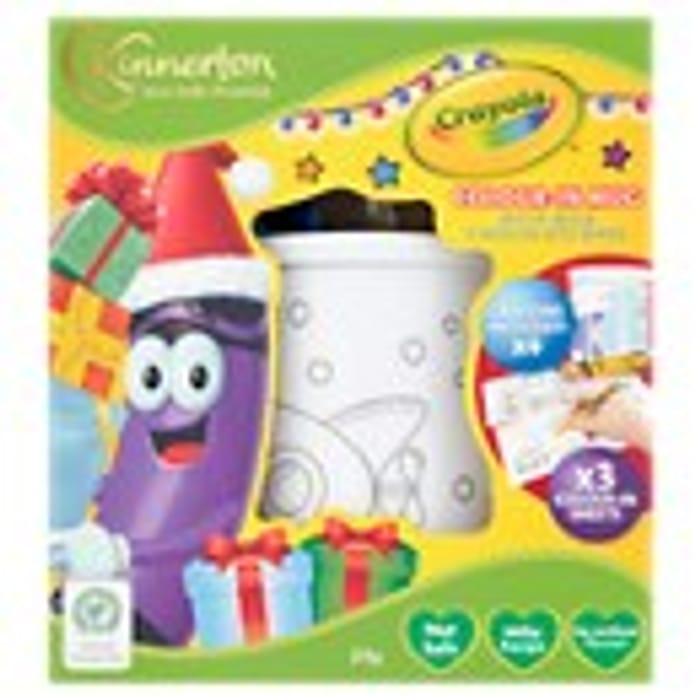 Crayola Colour-in Mug with Milk Chocolate Bars