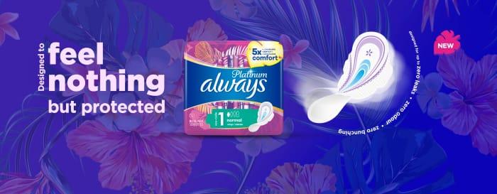 Choose 1 of 3 Always Platinum Sanitary Towel Samples
