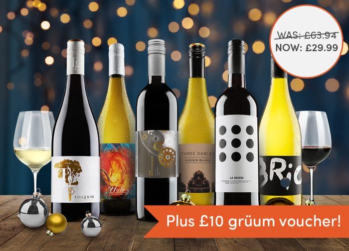 Virgin Wines 53% off 6 Wines + FREE £10 Gruum E-Voucher