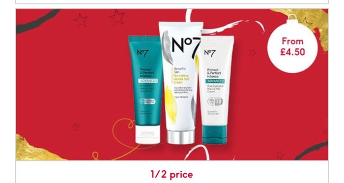 12 Days of Beauty Treats - 1/2 Price No7 Hand Cream And 3 FOR 2 On Selected NO7