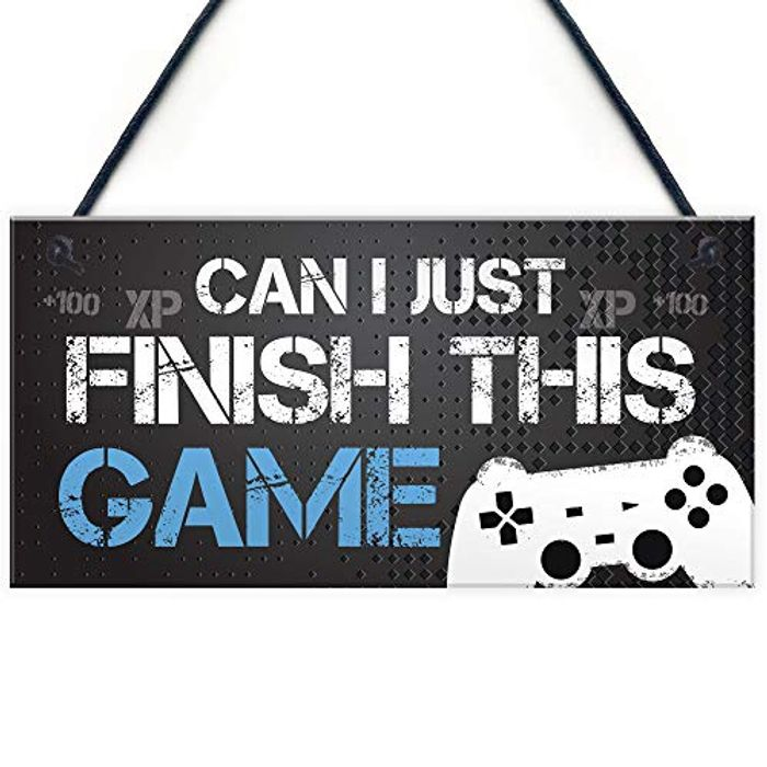 Gaming Sign for Boys Bedroom Man Cave