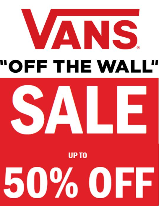 VANS SALE - up to 50% off Shoes, Clothes & Accessories + FREE DELIVERY