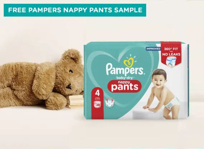 Free Sample of Pampers Nappy Pants Size 4