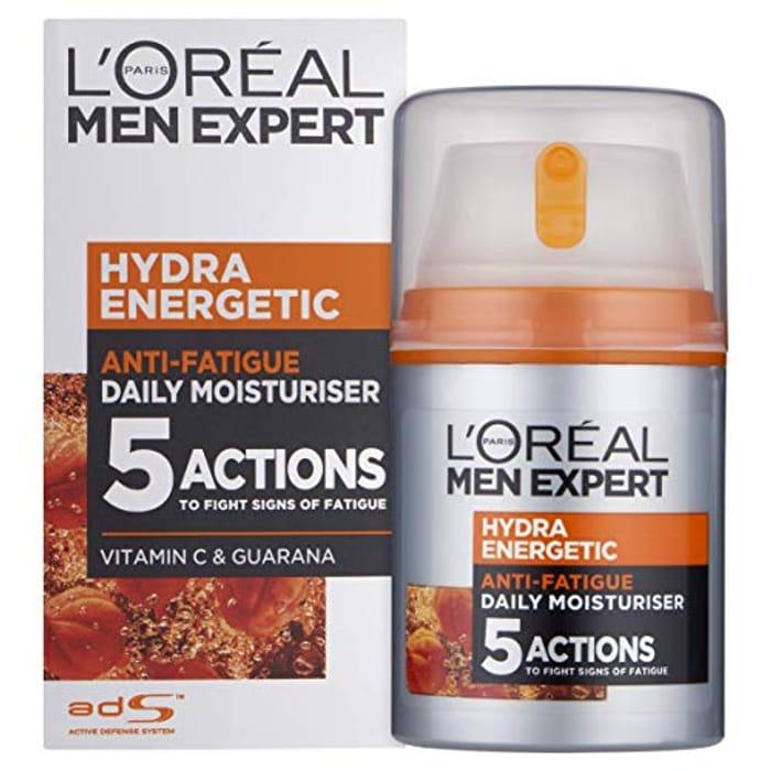 L'Oral Paris Men Expert Hydra Energetic Anti-Fatigue Moisturiser, 50ml