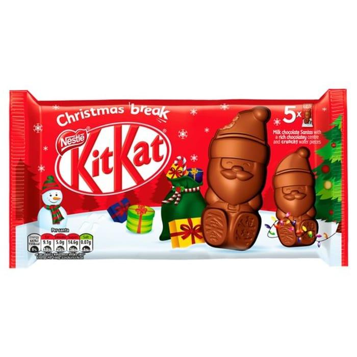 Kit Kat Milk Chocolate Santas 5pk