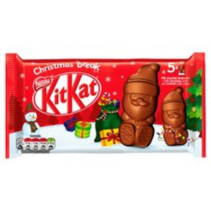 Kit Kat Milk Chocolate Santas - Clubcard Price - Only £1.5!