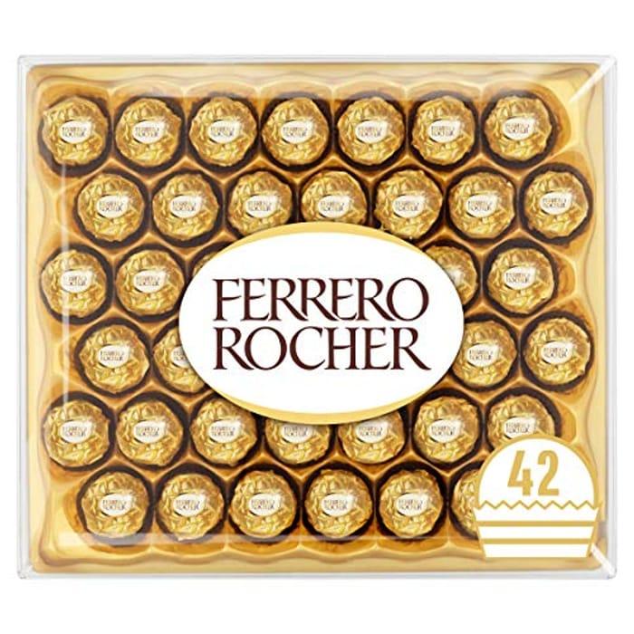 Ferrero Rocher Chocolate Set Box of 42 - £8.75 Prime / +£4.49 Non Prime at Amazon